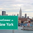 Welcome to New York sign — Stock Photo #5490364