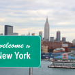 Welcome to New York sign — Stock Photo