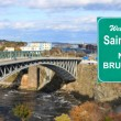 Stock Photo: Welcome to Saint John, NB sign
