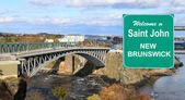 Welcome to Saint John, NB sign — Stock Photo