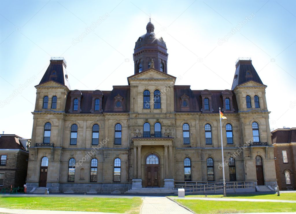 View of the Legeslative Assembly Building in Fredericton, NB, Canada — Stock Photo #5547731