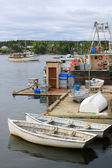 рыбацкие лодки в гавани ковша, nb — Стоковое фото