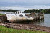 Beached Maritime fishing boat — Stock Photo