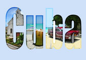 Cuba with different tourist spots — Stock Photo