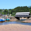 St. Martins, New Brunswick wharf — Stock Photo