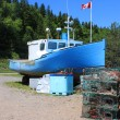 Beached boat in St. Martins, New Brunswick — Stock Photo #6105192