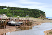 Beached boats in Alma, New Brunswick — Stock Photo