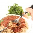 Spaghetti dinner — Stock Photo #6192282