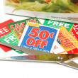 Clipping coupons — Foto Stock