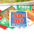 Clipping coupons — Stock Photo #6192305