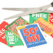 Clipping coupons — Stock Photo