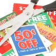 Clipping coupons — Stock Photo #6192338