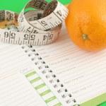 diário de dieta — Foto Stock