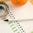 Diet journal — Stock Photo #6192501