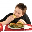 Eating tacos — Stock Photo