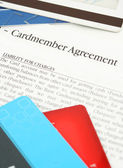 Credit card agreement — Stock Photo