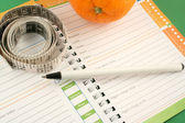Diet journal — Stock Photo