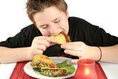 Comer tacos — Foto de Stock