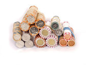 Coin rolls — Stock Photo