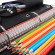 School and art supplies - Foto Stock