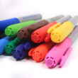Colorful markers in rainbow colors — Stockfoto #6637990