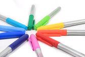 красочные маркеров в цвета радуги — Стоковое фото