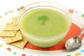 Sopa crema de brócoli — Foto de Stock