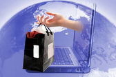 Online shopping — Stock Photo