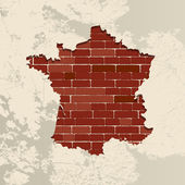 France wall map — Stock Vector