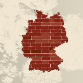 Germany wall map — Stock Vector