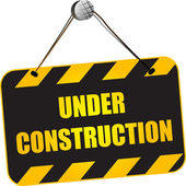 Under construction sign — Vettoriale Stock