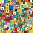 图库矢量图片: Abstract letters background