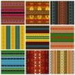 Decorative traditional pattern set — Stock Vector
