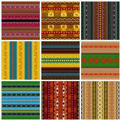 装飾的な伝統的なパターンのセット — ストックベクタ