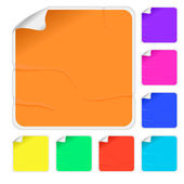 Empty color stickers — Stockvector