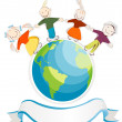 Children of the world - Stock Vector
