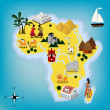 Stock Vector: Africmap