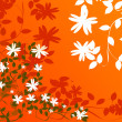 Floral wallpaper - Stock Photo