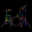Drums kit — Stockfoto