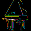 Grand piano — Stock Photo