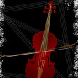 Violin over black — Stock Photo