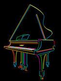 Fortepian — Zdjęcie stockowe