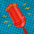 Pop art microphone — Vettoriali Stock