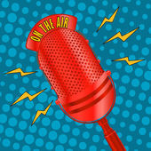 Pop art microphone — Stock Vector