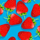 Strawberries pattern — Stock Vector