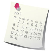 2013 April calendar — Stock Vector