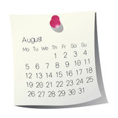 2013 August calendar — Vetorial Stock