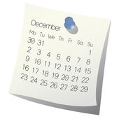 2013 December calendar — Stock Vector