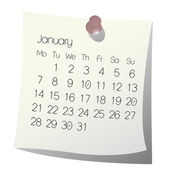 2013 January calendar — Stock Vector