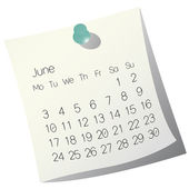 2013 June calendar — Stock Vector